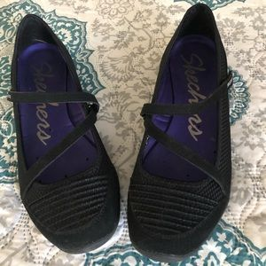 Sketchers Athletic Mary Janes, Black, Size 8.5